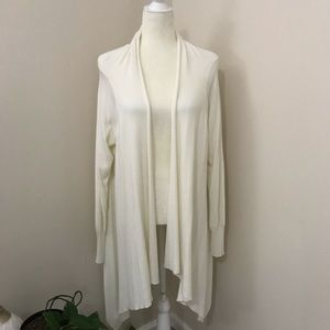 Ivory open front cardigan